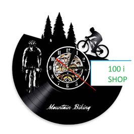 Schallplatten Vinyl Wanduhr Bike