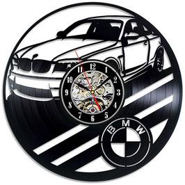 Schallplatten Vinyl Wanduhr BMW