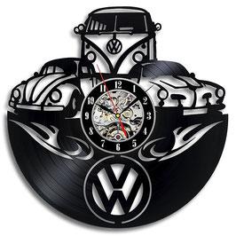 Schallplatten Vinyl Wanduhr OLD VW