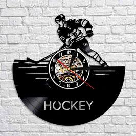 Schallplatten Vinyl Wanduhr Hockey