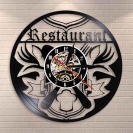 Restaurant Schallplatten Vinyl Wanduhr