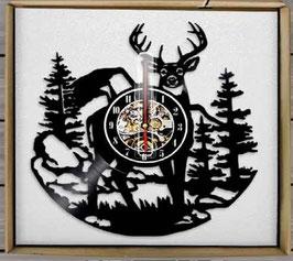 Schallplatten Vinyl Wanduhr Reh - Wald Jäger