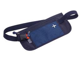 Sicherheits-Gürteltasche mit 2 Reißverschlussfächern