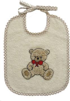 """Lätzchen """"Teddy"""" beige"""