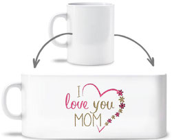 Keramiktasse I love you Mom