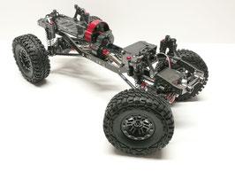 CNC Alu-/Carbon 1/10 Crawler – inkl. crawlster®BTA2-TFL LenkSystem + wasserdichtem 20kg-Servo
