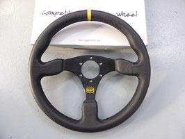 QSP Lenkrad 350mm Glattleder schwarz flach