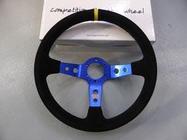 QSP Lenkrad 350mm Wildleder blau 90mm Dish