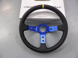 QSP Lenkrad 350mm Glattleder blau 90mm Dish