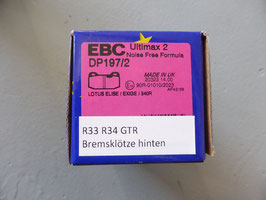 EBC Ultimax 2 hinten DP197/2 - Nissan Skyline R33 R34 GTR