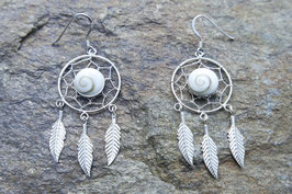 Dream Catcher Earrings with Shiva Eyes