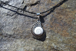 Conch Pendant with Shiva Eye