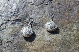 Shiva Eye Earrings with Flower of Life