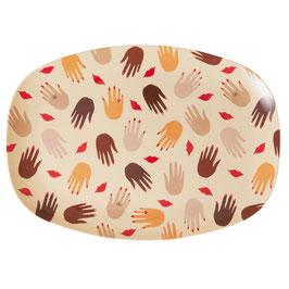 Melamin Teller oval groß