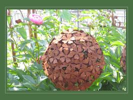 Edelrost Blume - Hortensie Ball