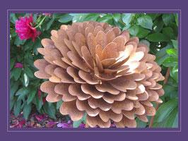 Edelrost Blume - Pompon Dahlie