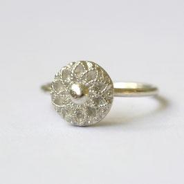 sterknoop ring zilver
