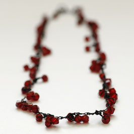 swarovski collier bordeauxrood s55