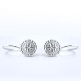 zilveren munt oorbellen zilver