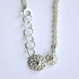 Zeeuwse ketting zilver sterknoop met witte parels