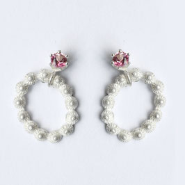 zeeuwse oorbellen, ovaaltjes met roze topaas
