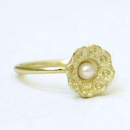 Zeeuwse ring klein goud met parel