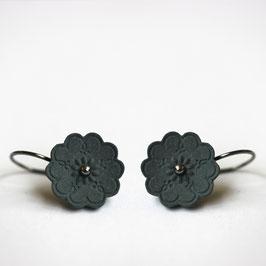 gerst zwart porseleinen oorbellen