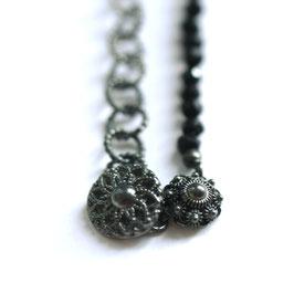 Zeeuwse ketting zilver sterknoop met onyx