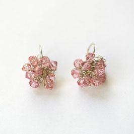 swarovski oorbellen roze o12zi