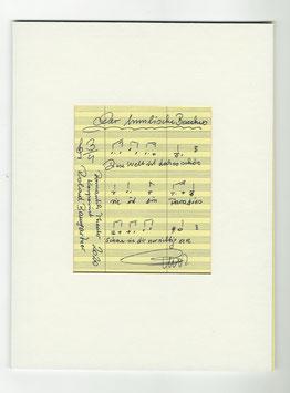 """Original Notenblatt von der Operette """"Der himmliche Bacchus"""""""
