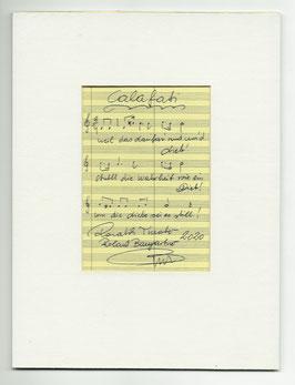 """Original Notenblatt von der Operette """"Calafati"""""""