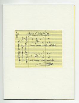 """Original Notenblatt von der Operette     """"Die Glücksfee"""""""