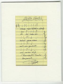 """Original Notenblatt von der Operette   """"Stille Nacht"""""""
