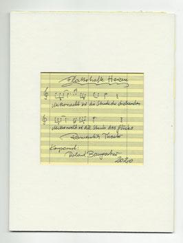 """Original Notenblatt von der Operette """"Flatterhafte Herzen"""""""