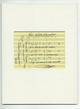 """Original Notenblatt von der Operette """"Ein echter Kavalier"""""""