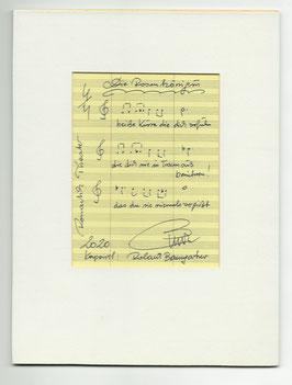 """Original Notenblatt von der Operette """"Die Rosenkönigin"""""""