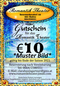 Geschenk Gutschein für das Romantik Theater
