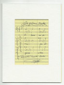 """Original Notenblatt von der Operette     """"Die goldene Maske"""""""