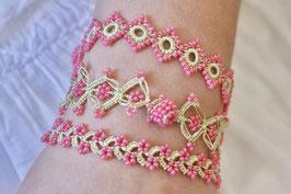 Perlenarmbänder Ottomania Pink/Hellgrün