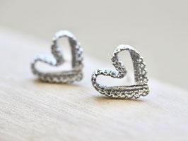 Ohrstecker Herz Spitze Silber