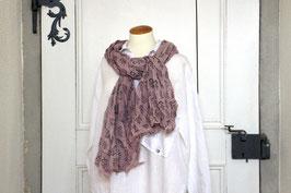Bio Baumwollschal Violett Ornamente
