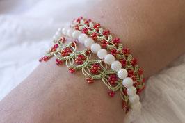 Perlenarmbänder Ottomania Rot/Hellgrün