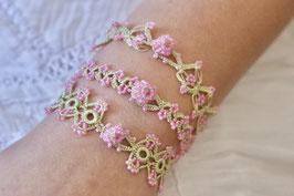Perlenarmbänder Ottomania Hellgrün/Rosa
