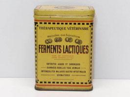 Boite métal Ferments lactiques Thérapeutique vétérinaire / Lactic acid bacteria Veterinary therapeutics old tin