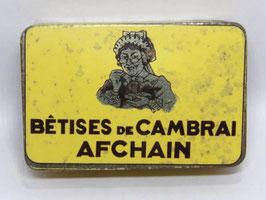 Boite en fer Bêtises de Cambrai Afchain / French sweet tin Bêtises de Cambrai Afchain