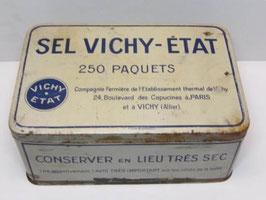 Grande boite métal Sel Vichy Etat / Large Vichy Eteat salt tin