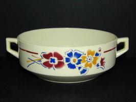 Saladier décor fleurs Moulin des Loups / Moulin des Loups fruit bowl flower decoration
