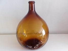 Dame Jeanne ancienne en verre brun 30 l / Vintage brown glass Dame Jeanne 30 l