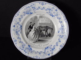 Assiette parlante Creil et Montereau, Exposition de 1867 n°8 / Creil et Montereau talking plate, 1867 exhibition n°8