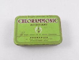Boite en métal ancienne de pharmacie dragées Chlorammonic / Vintage french  Chlorammonic pill pharmacy tin